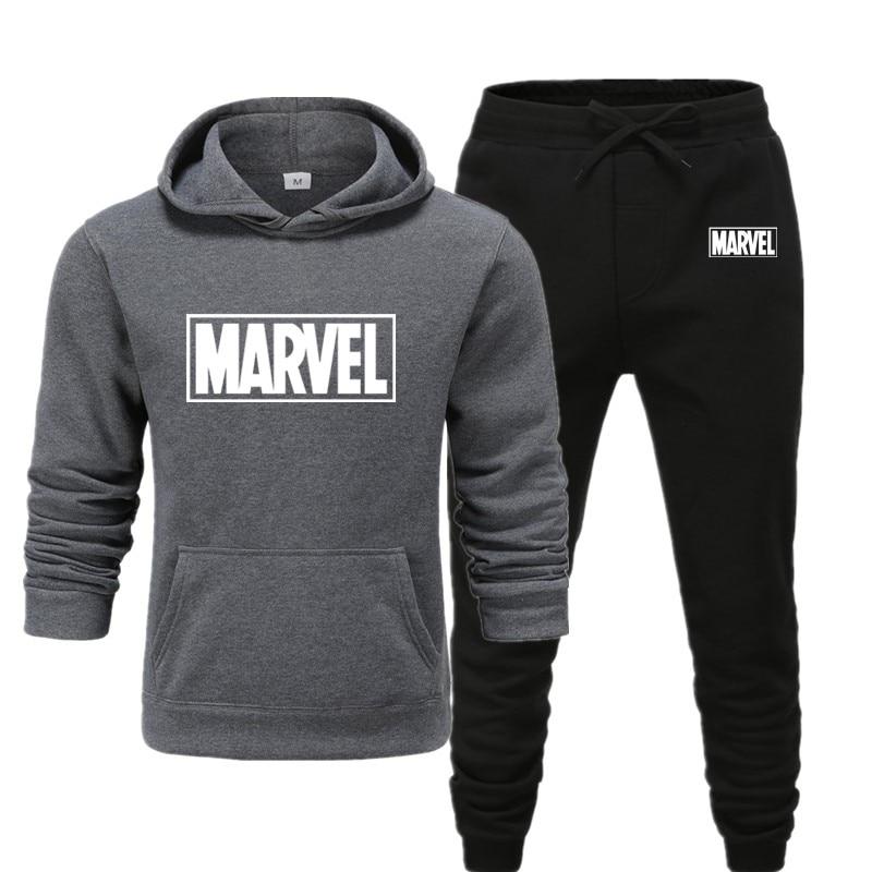 New marvel Hoodie men's high quality long sleeve casual Sweatshirt autumn winter Hoodie set 2019