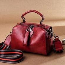 Mini shoulder messenger bag womens small crossbody bag ladies genuine leather Black red mini handbag cross body bags for women