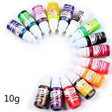 15 Pcs/set 10g DIY Handmade Jewelry Crafts Making Coloring Pigment UV Crystal Glue Gel Oily Solid Color Resin Dye pigment powder(China)