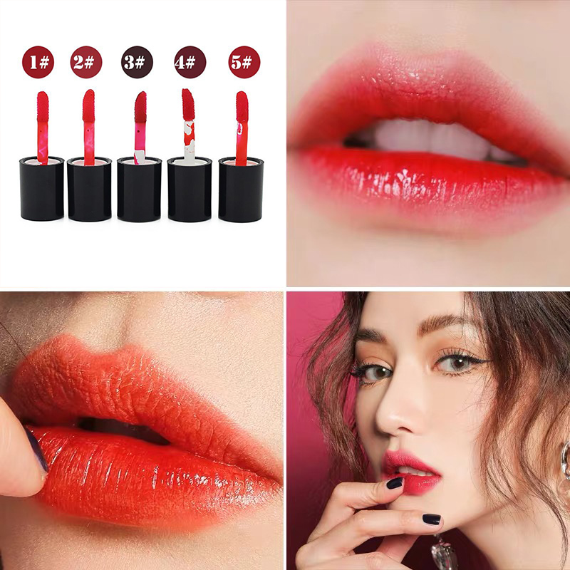 Makeup Waterproof Multifunction Lip Gloss Tint Dyeing Liquid Lipgloss Blusher Makeup Cosmetics Rouge Water Korean image