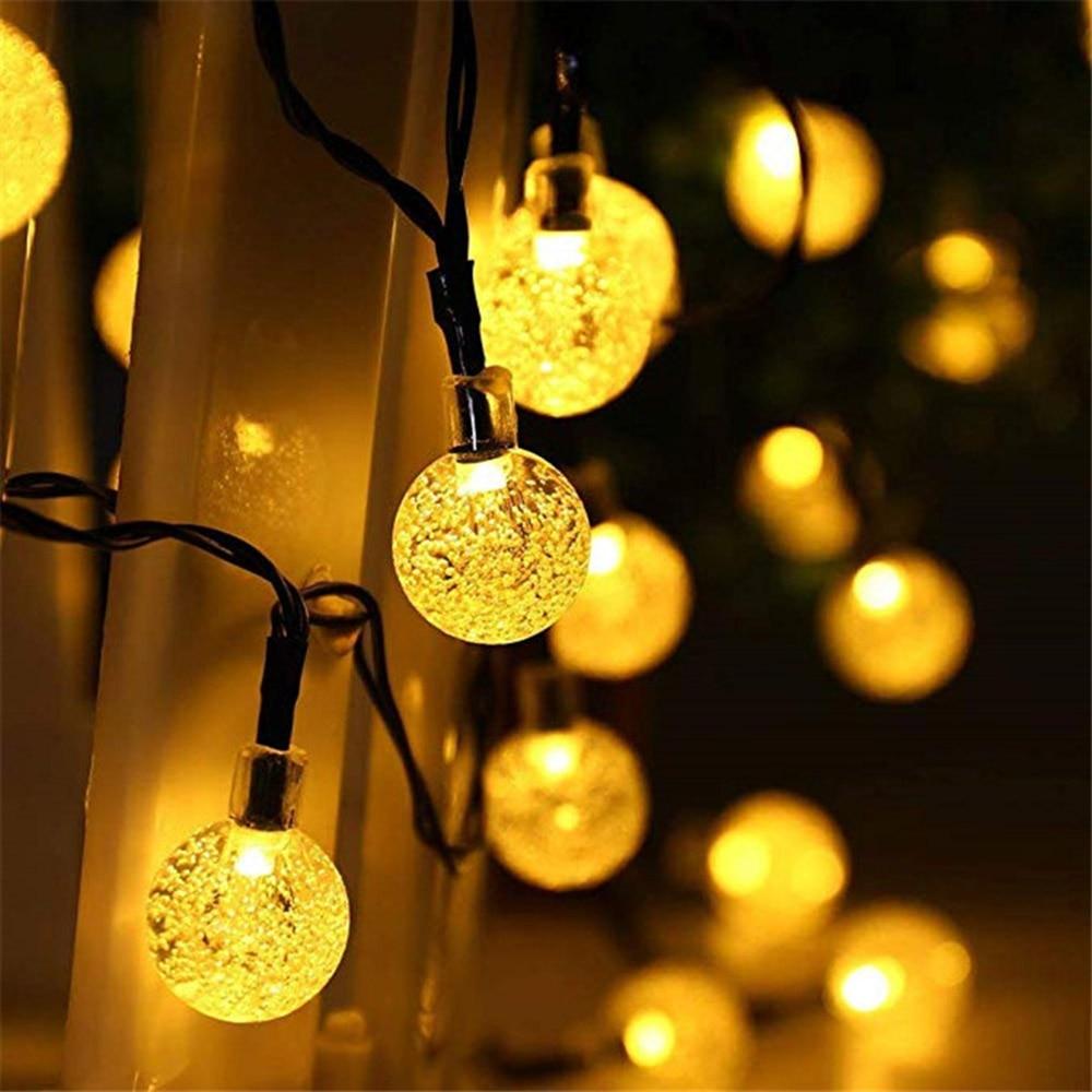 Solar LED Crystal Ball String Light 5M 7M Waterproof Fairy Lights Christmas Wedding Garland Garden Lawn Tree Decoration Beloved|Lighting Strings| |  - title=