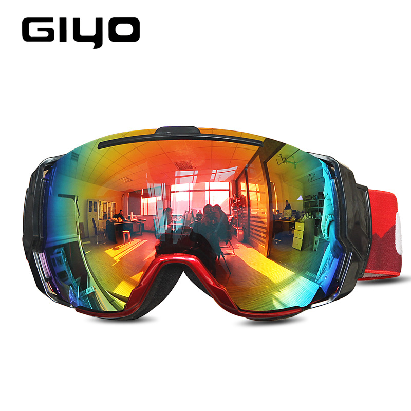GIYO OTG Over Glasses Cycling Ski Snowboard Snow Goggles Dual Layers Lens Anti-Fog UV Protection For Men Women