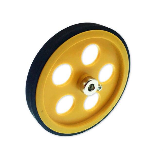 Meter Wheel Circumference 300mm Aperture 6mm Length Measuring Wheel Measuring Wheel Synchronous Wheel Encoder