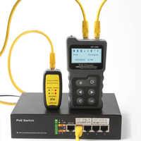 Verificador inline da tensão e corrente do ponto de entrada do lcd do verificador do lan do verificador do cabo da rede de NF-488 com verificador do verificador do cabo sobre