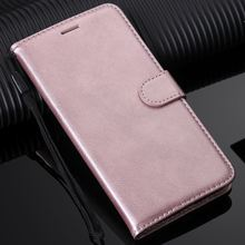 Coque Card Slot For Case OPPO A73 F5 F7 F9 R17 Solid Color Lovely Leat