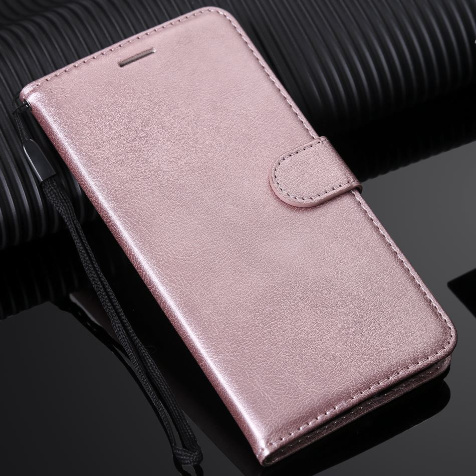 Coque Card Slot For <font><b>Case</b></font> <font><b>OPPO</b></font> A73 F5 <font><b>F7</b></font> F9 R17 Solid Color Lovely Leather Covers Shiny Book Capa Classic Mobile Phone Bags D06F image