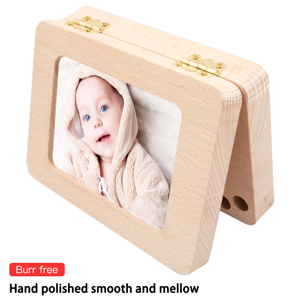 Wooden Storage Box Handmade High-quality Baby Teeth Box Collection Box Photo Frame Creative Birthday Souvenir Gifts For Children
