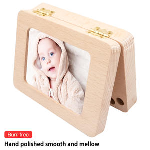Storage-Box Gifts Birthday-Souvenir Wooden Baby for Children Photo-Frame Handmade Creative