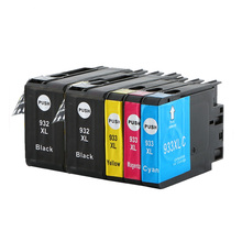 5PK Compatible HP 932 933 XL 932XL 933XL Compatible for Ink Cartridge Officejet 6100/6600/6700 original for hp 932xl cn053ae black high capacity ink cartridge
