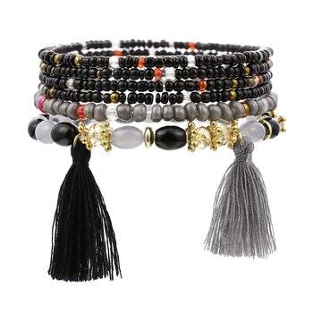 Women's Boho Style Stone Charm Bracelet Bracelets Jewelry New Arrivals Women Jewelry Metal Color: SL1521