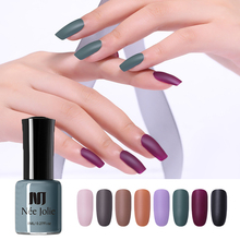 NEE JOLIE 8ml Matting Nail Polish New Bottle Black Purple Pure Colors Art Varnish for Design 12 Availabe