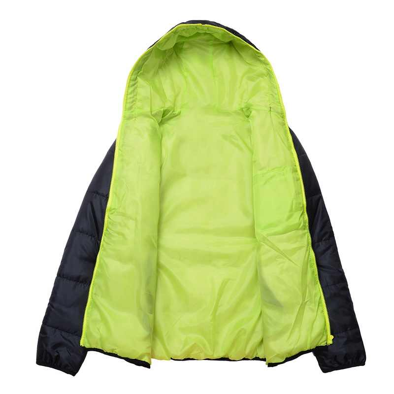 ผู้ชายฤดูหนาวสีบล็อกZipper Hoodedแจ็คเก็ตฝ้ายเบาะCoat Slim Fitแฟชั่นThicken Warm Outwear Tracksuit 2020