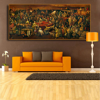 Historical Celebrities Oil Painting Printed on Canvas 1