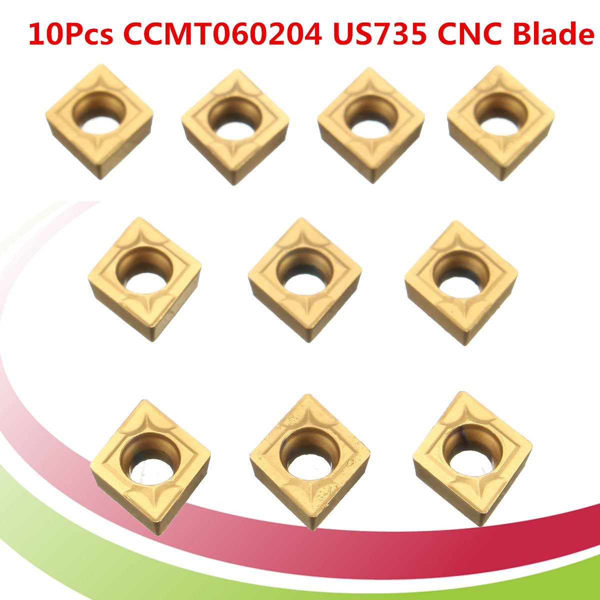 CCMT060204-MM P7320 CCMT21.51 CNC carbide inserts For Stainless steel 10Pcs