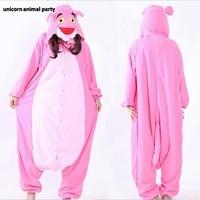 Kigurumi Onesies Cosplay Adult cartoon pink jumpsuit anime character animal pajamas both men women Halloween Clothes costumes