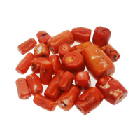 Synthetic coral loose beads Coral conforming beads Red coral irregular shape DIY jewelry necklace bracelet accessories kg sales