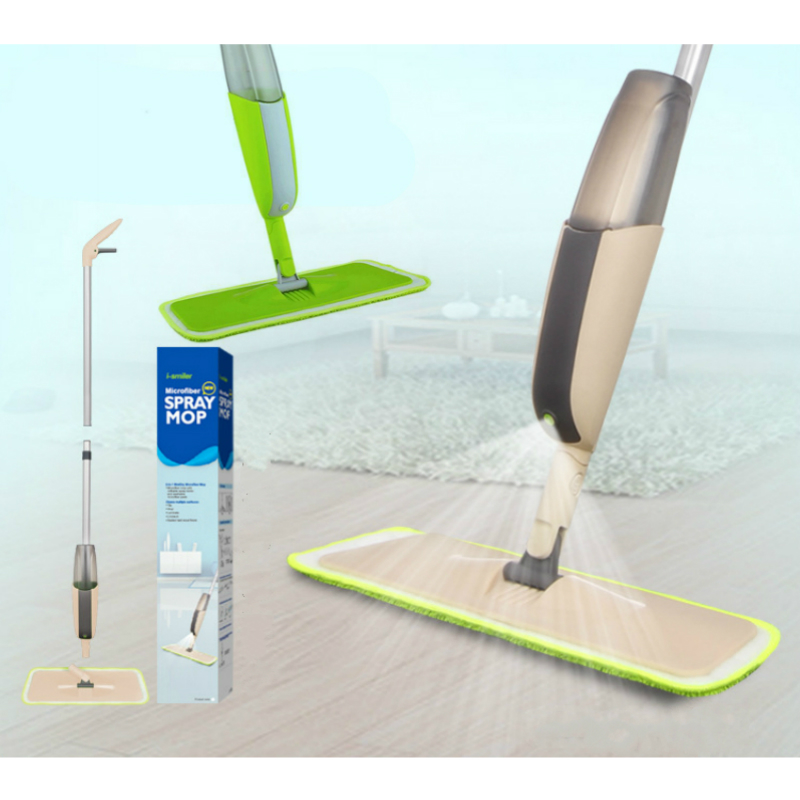 i-Smile Spray Mop Floor with Reusable Microfiber Pad 360 Degree Handle Home Window Kitchen Supplie Sweeper Broom Clean Tool