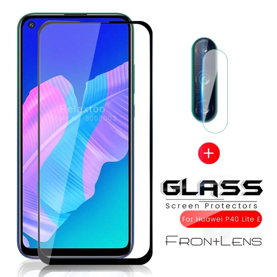 2-in-1 Protective Glass For Huawei P 40 Lite E Glass Camera Protector For Huawei P40 Lite Light E Safety Glass P40lite E Films