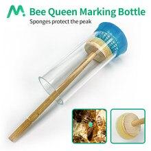Abelha rainha marcação gaiola garrafa com êmbolo macio nova abelha marcador grade marca não-tóxico apicultura equipamento apicultor ferramenta essencial