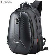 GHOST RACING Motorcycle Backpack Carbon Fiber Waterproof Moto Motorbike Helmet Bag Tank Bag Computer Bags Travel Luggage(China)