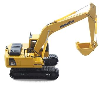 En STOCK1/50 escala KOMASTU PC200-10 excavadora juguetes ingeniería de aleaciones vehículos de construcción modelo juguetes coleccionables