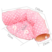 Cat and Cat Bed Kennel Cat Tunnel Toy Foldable Cat Channel Pet Nest Pet Toys Personality Cat Litter Small and Medium SizedKennel 8in1 cat stain and odor exterminator nm jfc s