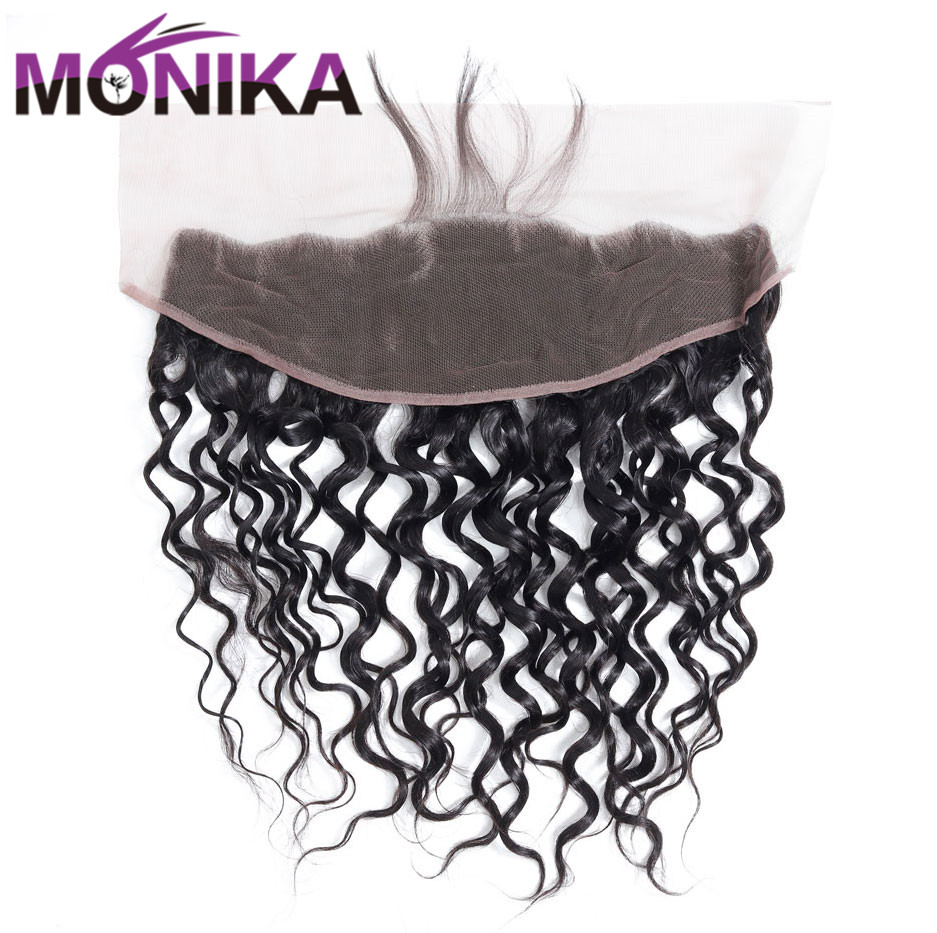Monika Water Wave Frontal Human Hair Closure Lace Frontal 13x4 Ear To Ear Lace Closure Frontal With Baby Hair Non-Remy Frontals