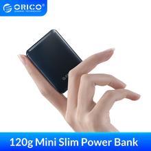 ORICO 5000mAh כוח בנק Slim מיני נייד חיצוני סוללה טעינת Powerbank עבור iphone Xiaomi Smartphone קטן כוח בנק