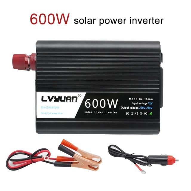 DC12V to AC 220V  1200W Peak Universal Plug USB with LED Indicator Car Converter for Household Appliances Power Inverter