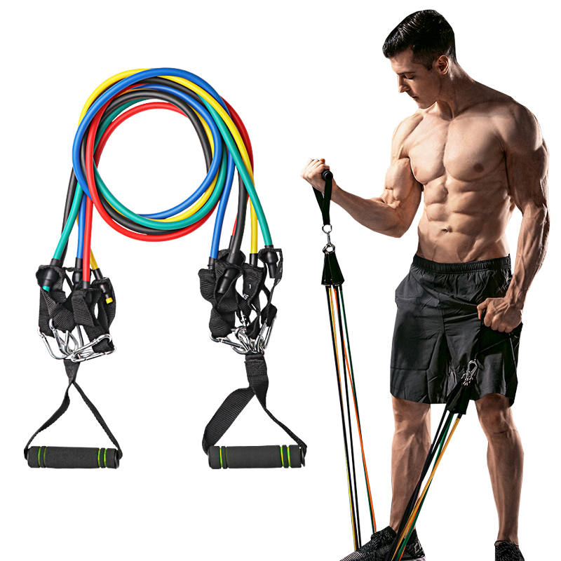 11pcs/set Fitness Resistance Bands Tubes Yoga Pull Rope Sport Fitness Gum Workout Exercise Bands Gym Sport Rubber Expander