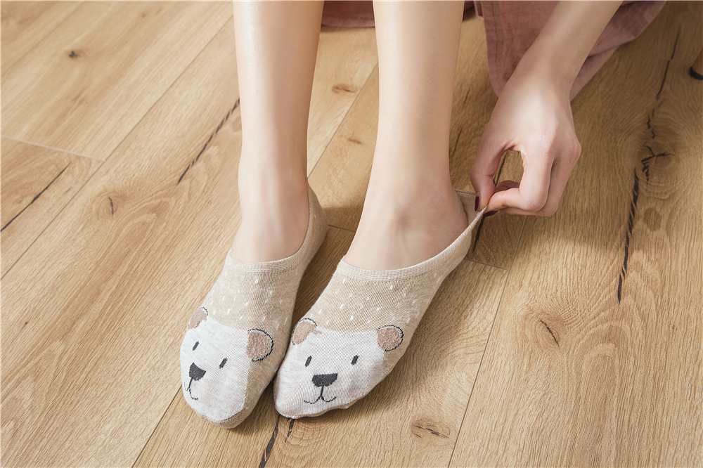 5Pairs/Lot Cartoon Unicorn Cat Fox Socks Cute Animal Women Socks Summer Funny Short Ankle Socks Ladies Cotton Sock Dropship