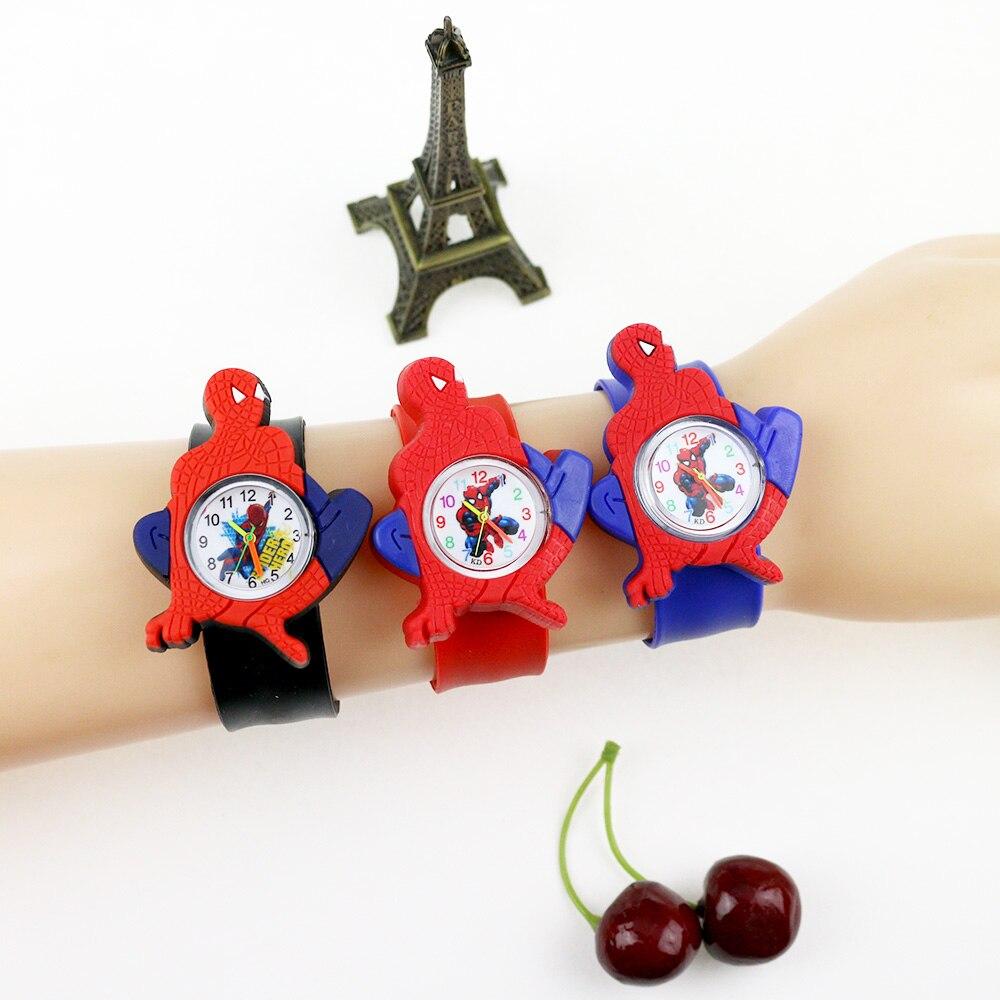 2020 Hot 3D Cartoon Boys Watches Spiderman Cute Children Clock Baby Kid Quartz Student Wrist Watches For Girls Boys Gifts