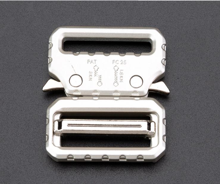 26mm Zinc Alloy Outdoor Tactical Belt Button, Men Outdoor Metal Belt Button Quick Release Cobra Button