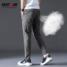Sommer hohe qualität Männer Hosen Marke Kleidung Klassische Casual Männer Hosen Gerade Grau Schwarz Khaki dünne Atmungsaktive Hose männlichen