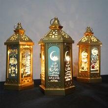Guirnalda de luces LED estéreo para el hogar, accesorios de decoración para el hogar, con luz EID, Mubarak, Ramadán, musulmán, fiesta, Eid