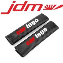 Embroidery Car logo emblem carbon fiber style seat belt cover shoulder pad for TOYOTA HONDA NISSAN MAZDA MTSUBISHIL accessories цена и фото