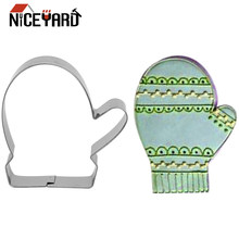 Niceyard Cookie Alat Gingerbread Cookie Cutter Biskuit Sarung Tangan Cetakan Xmas Christams Alat Dapur Gadget(China)