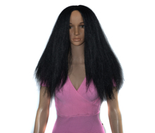 Synthetic Wig Kinky Straight Wig Brazilian Wig Yaki 150% Density Afro Synthetic Wigs For Black Women cool nylon fans wig for brazilian world cup yellow green