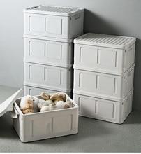 Multi-function Folding storage box student dormitory Snack toy Storage Box Clothes storage box storage box for car organizer 05 2 004 folding double open visual storage box for clothes grey