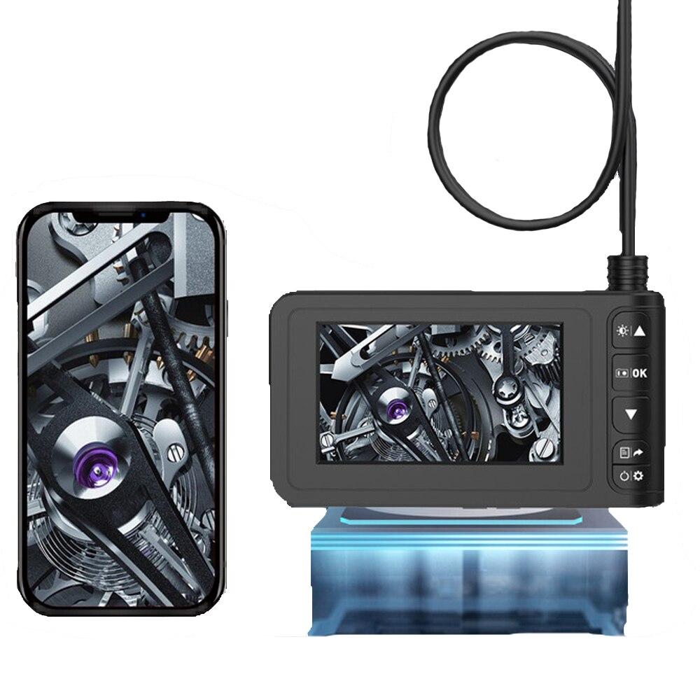 Endoscope industriel tenu dans la main 8mm Endoscope 2MP HD 1080P caméra d'inspection de tuyau avec 4.3 pouces écran couleur LCD 8 lumières Led