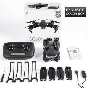 SG901 Foldable Drone 4K/1080P HD Dual Camera Follow Me RC Drone FPV Professional Long Battery Life Aircraft Toy For Kid