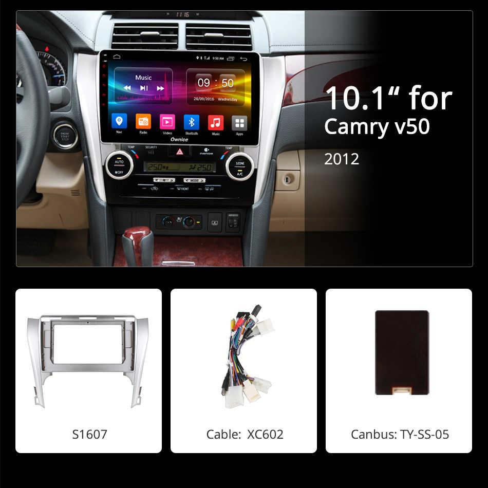 Ownice k3 k5 k6 アンドロイド 9.0 360 パノラマカーラジオ DVD gps のステレオプレーヤートヨタカムリ v50 2012 2014 2015 2016 DSP 4 グラム SPDIF
