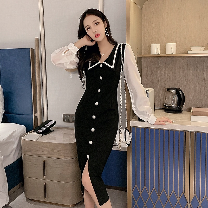 Autumn Fashion Women Dress 2019 Sexy Maxi OL Professional Slim Long Party Dresses Plus Size