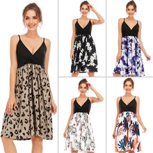 Summer Fashion Pregnant Dresses Maternity V-neck  Sleeveless Sexy Clothes Pregnancy Party Evening  Beach Dress