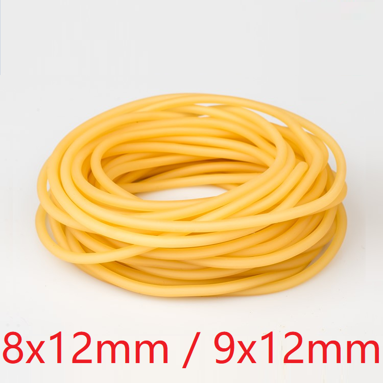 ID <font><b>8mm</b></font> 9mm x 12mm OD Nature Latex Rubber <font><b>Hose</b></font> Flexible Pipe High Resilient Elastic Surgical Medical Tube Soft Slingshot Catapult image