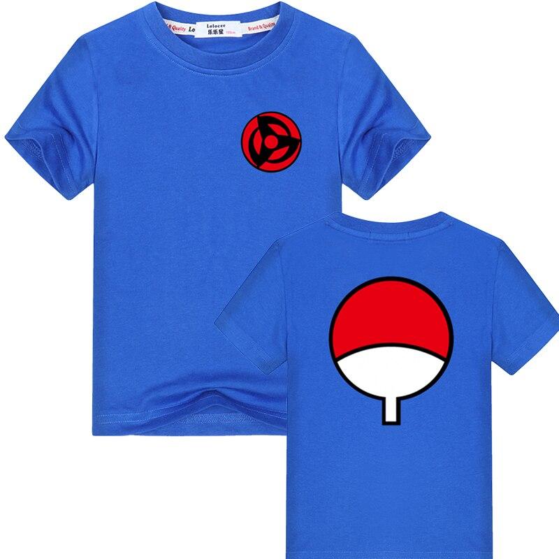 2021 Hot Fashion Anime T Shirt Naruto Short Sleeve T-Shirt For Kids Unisex O-Neck Shirts Uchiha Family Brand tops 3