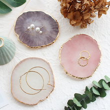 Resin Jewelry Display Board Necklace Ring Earring Display Painted Palette Tray Jewelry Stand Storage Box Decorative Jewelry