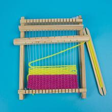 needle sewing tools diy kids knitting machine kit weaving loom for scarf hat sweater kids children pretend play toys knitting to Wooden Weaving Craft Yarn little Loom DIY Hand Knitting Machine Kids Educational Toys Children's diy handmade wool weaving tool
