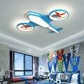 Креативный мультяшный Воздушный самолет  детский потолочный светильник для маленьких мальчиков и девочек  Детский Светильник для детской ...