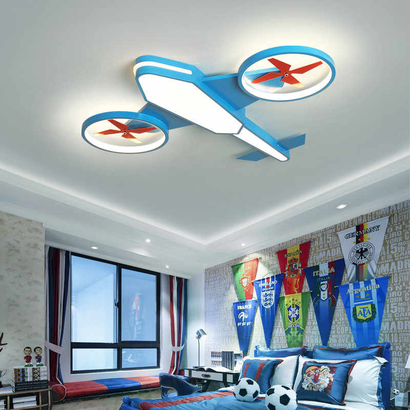 creative cartoon air plane kids ceiling light baby boys girls children kids room light bedroom lamp nursery decorative lighting